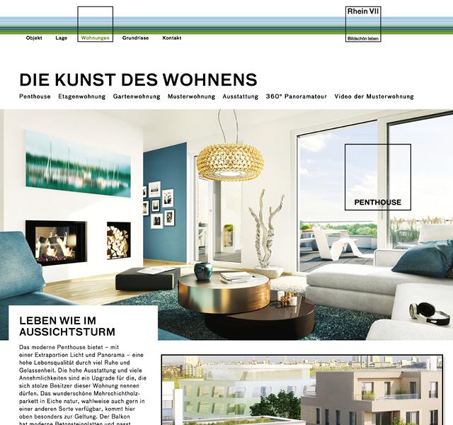 Website Immobilienmarkering Rhein Sieben