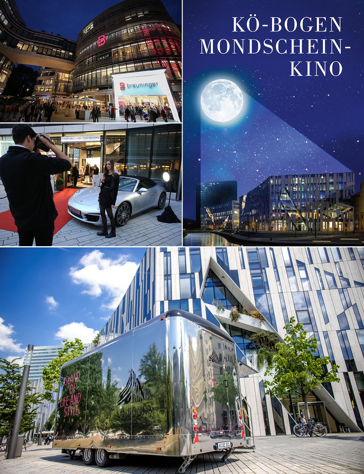 Verschiedene Events zur Vermarktung der Gewerbeimmobilie Koe-Bogen