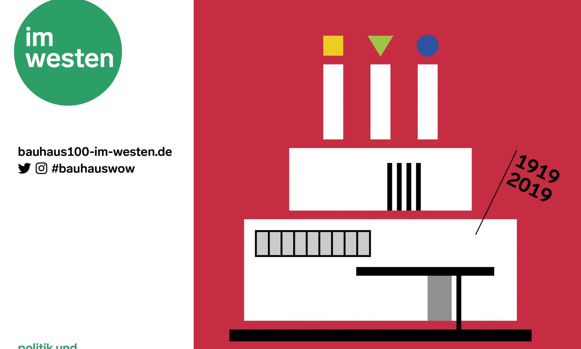 Kampagne 100 Jahre Bauhaus in NRW