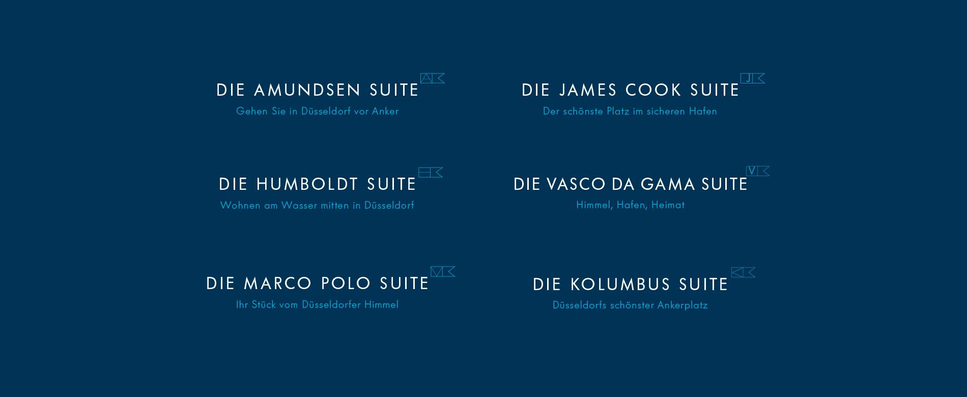 Markenarchitektur für das Vermarktungskonzept der Wohnimmobilie Carlstadtufer in Düsseldorf
