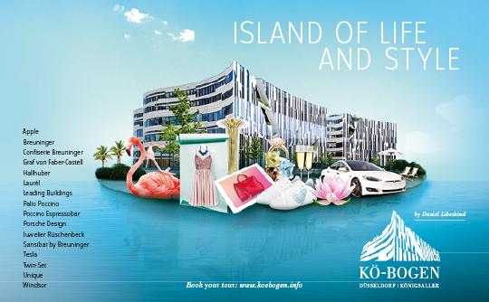 Imagekampagne zur Vermarktung der Gewerbeimmobilie und Marke Koe-Bogen