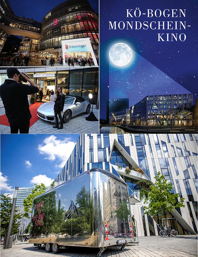 Verschiedene Events zur Vermarktung der Marke und Gewerbeimmobilie Koe-Bogen