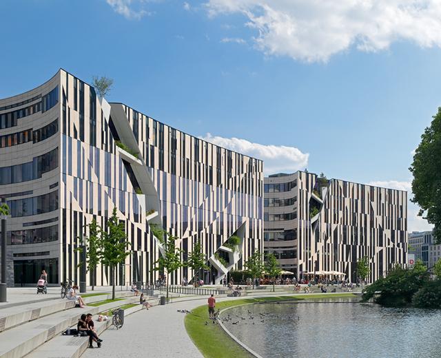 3D-Visualisierung Außenansicht Vermarktung der Marke und Gewerbeimmobilie Koe-Bogen
