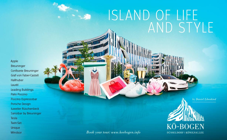 Anzeige zur Vermarktung der Marke und Gewerbeimmobilie Koe-Bogen